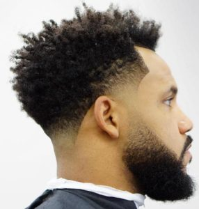 Drop Fade with Afro